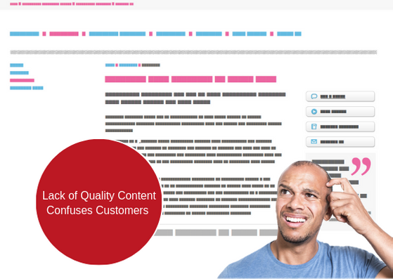 lack of quality content confuses customers