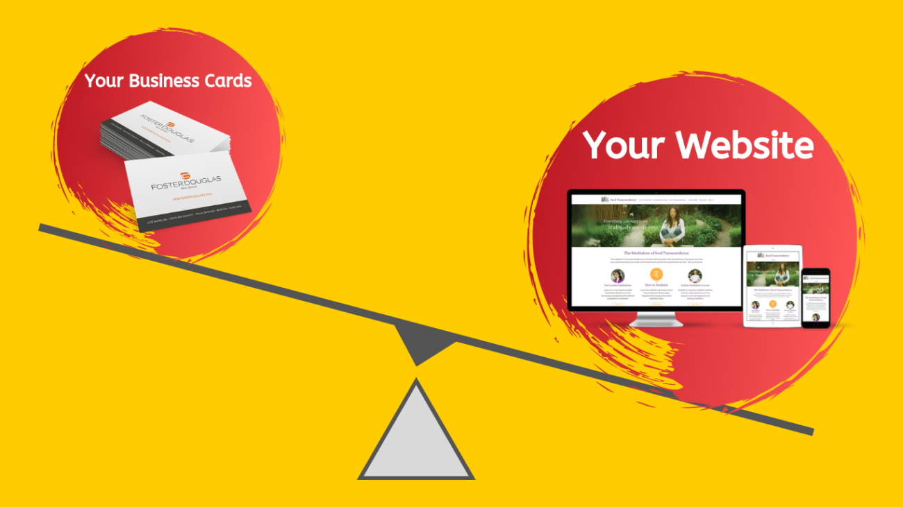 website is more important than business card